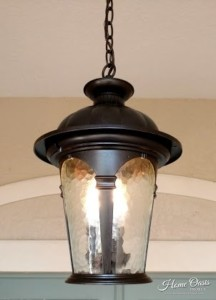 Refinished Outside Light Fixture