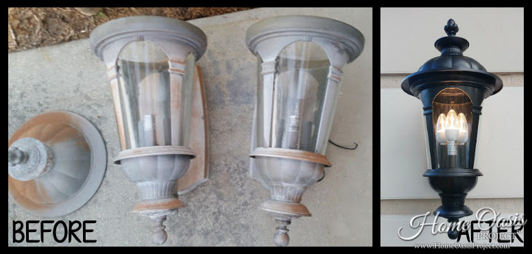 Spray Painting Outside Light Fixtures