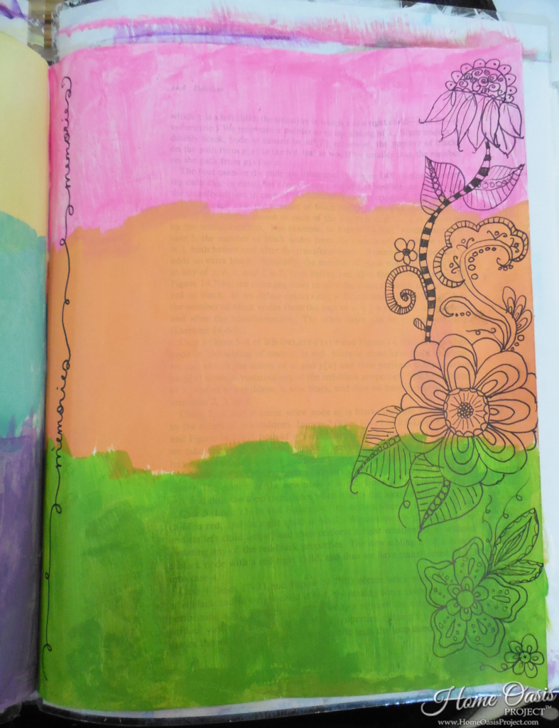 Art Journal with Cut Out Edges